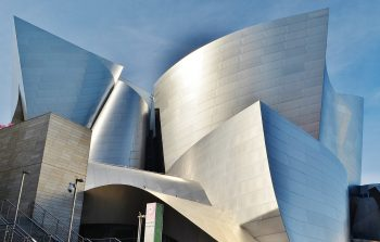 Anodized aluminum used on the Walt Disney Concert Hall.