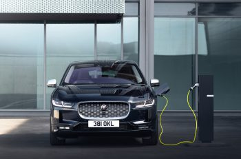 Jaguar I-Pace outside charging - electric vehicles drive aluminum demand