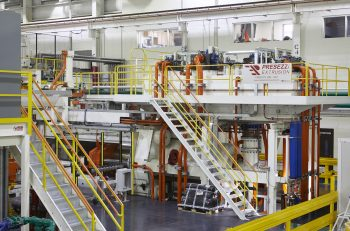 Figure 1. The 45 MN, 10 inch direct press was designed with the demands of the automotive industry in mind.